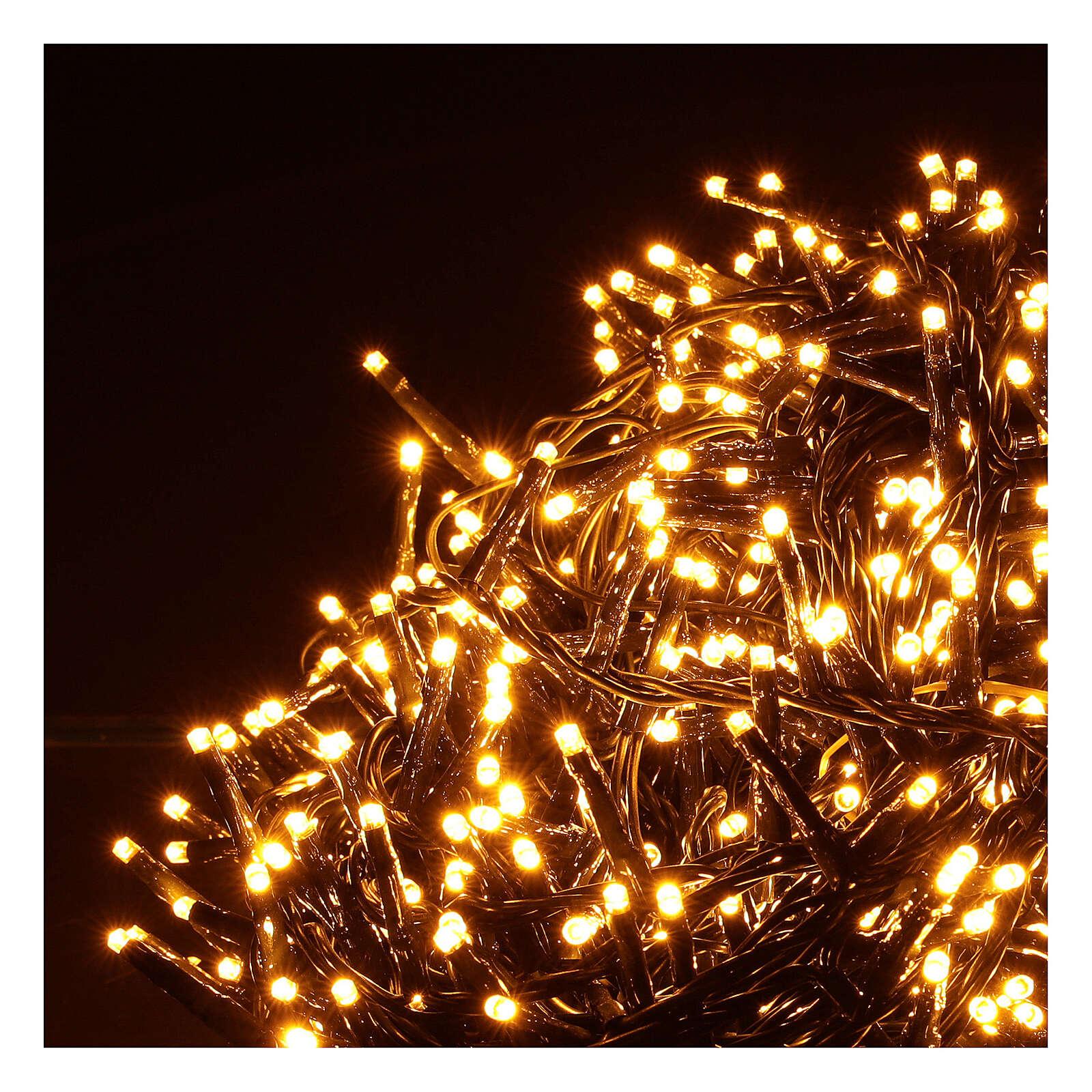 Cadena luminosa 1000 led blanco cálido ambarino exterior 220V 3