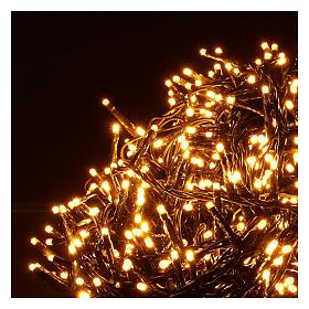 Cadena luminosa 1000 led blanco cálido ambarino exterior 220V s3