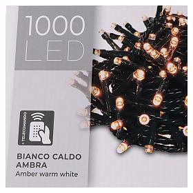 Cadena luminosa 1000 led blanco cálido ambarino exterior 220V s6