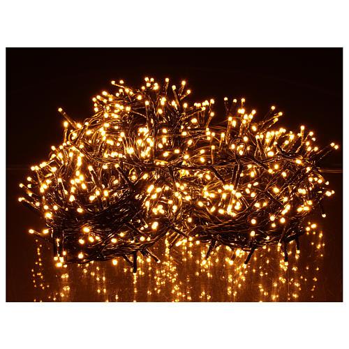 Cadena luminosa 1000 led blanco cálido ambarino exterior 220V 2