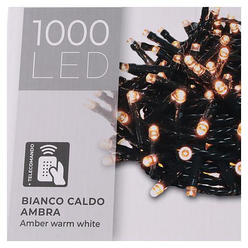 Cadena luminosa 1000 led blanco cálido ambarino exterior 220V 6