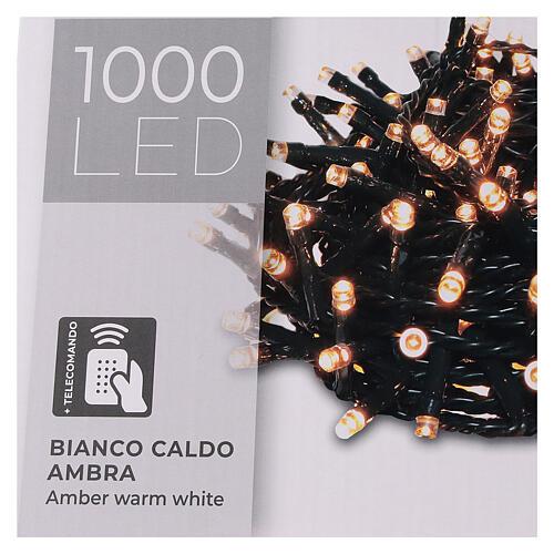Cadena luminosa 1000 led blanco cálido ambarino exterior 220V 5