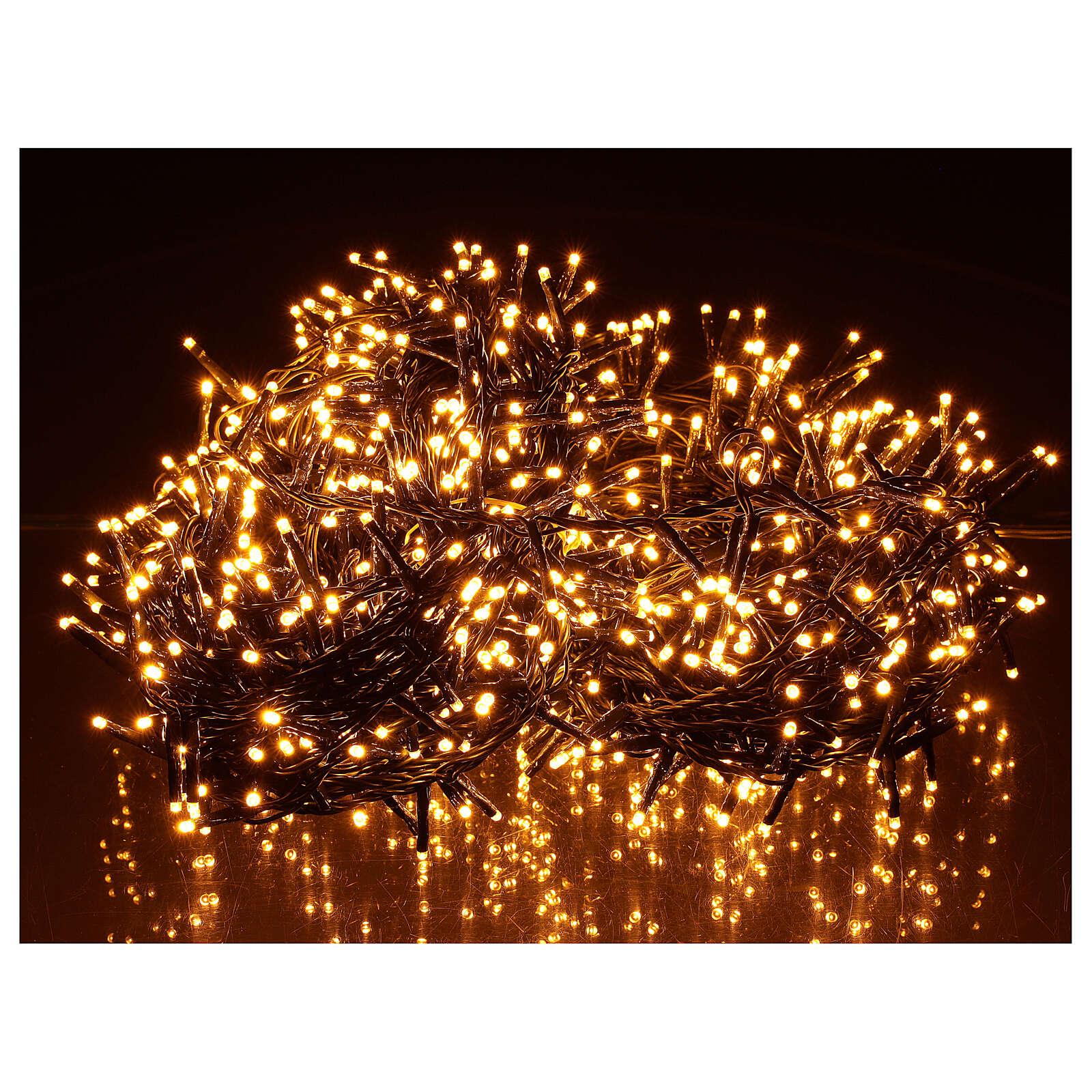 Chain lights 1000 LEDs amber warm white lights external 220V 3