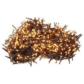 Chain lights 1000 LEDs amber warm white lights external 220V s3