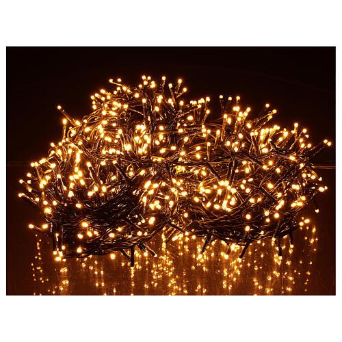 Chain lights 1000 LEDs amber warm white lights external 220V 1