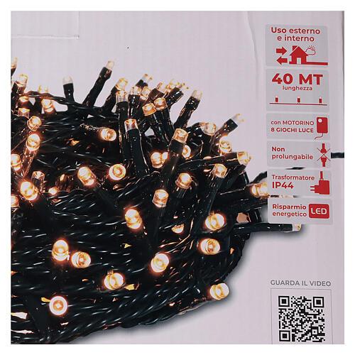 Chain lights 1000 LEDs amber warm white lights external 220V 4