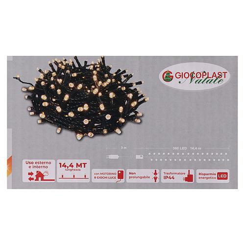 Guirlande 360 LED blanc chaud 6