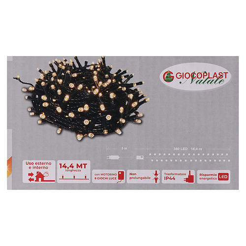 Grinalda 360 LED branco quente 6