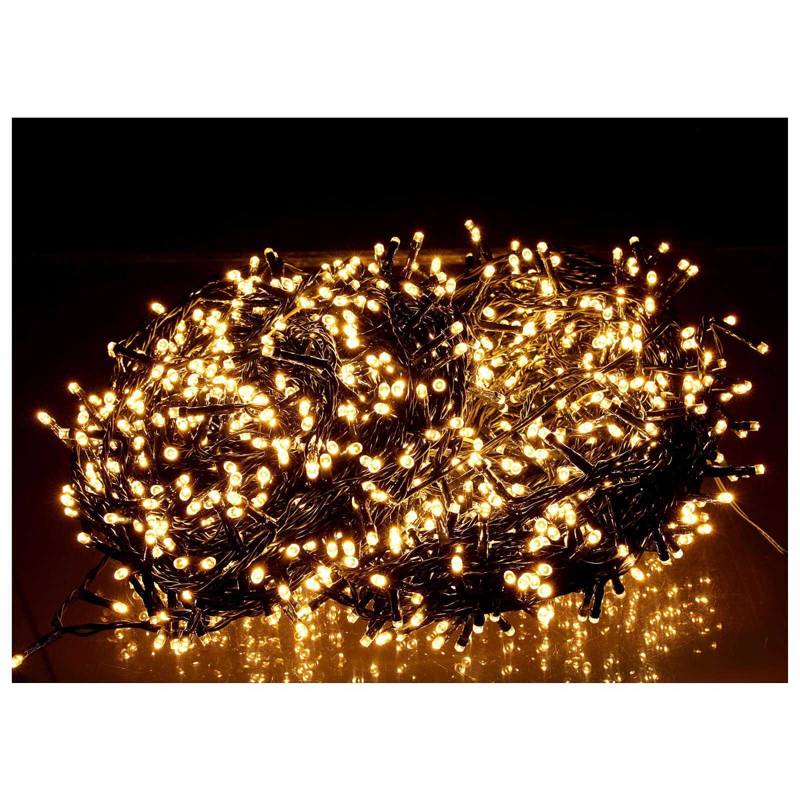 Guirlande 1500 LED blanc chaud extérieur 220V 3