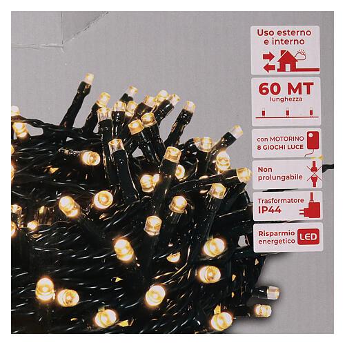Guirlande 1500 LED blanc chaud extérieur 220V 5