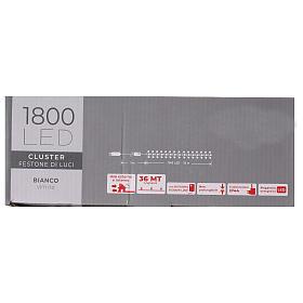 Cadena luminosa 1800 led blanco frío con juegos de luz exterior 220V s8