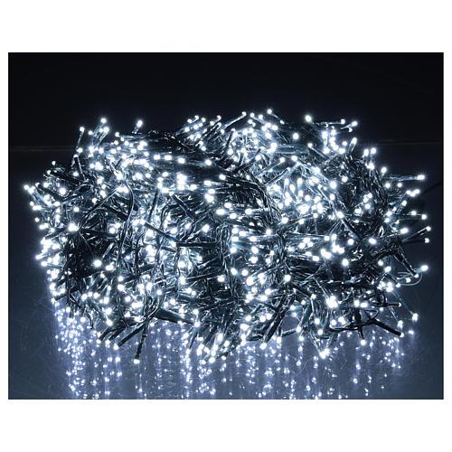 Cadena luminosa 1800 led blanco frío con juegos de luz exterior 220V 2