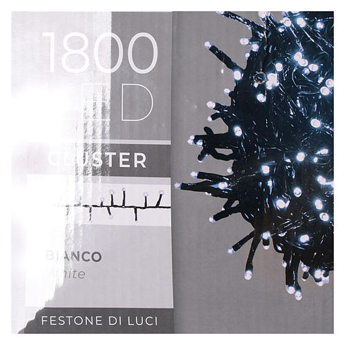 Cadena luminosa 1800 led blanco frío con juegos de luz exterior 220V 7