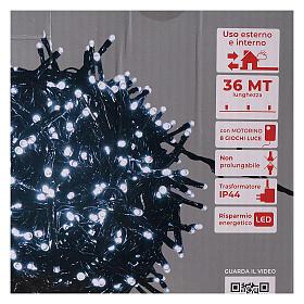 Guirlande 1800 LED blanc froid avec jeux de lumières extérieur 220V s6