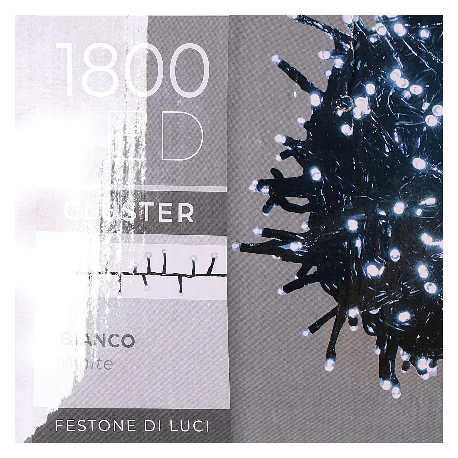 Catena luminosa 1800 led bianco freddo con giochi di luce esterno 220V 3