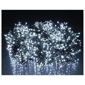Catena luminosa 1800 led bianco freddo con giochi di luce esterno 220V s2