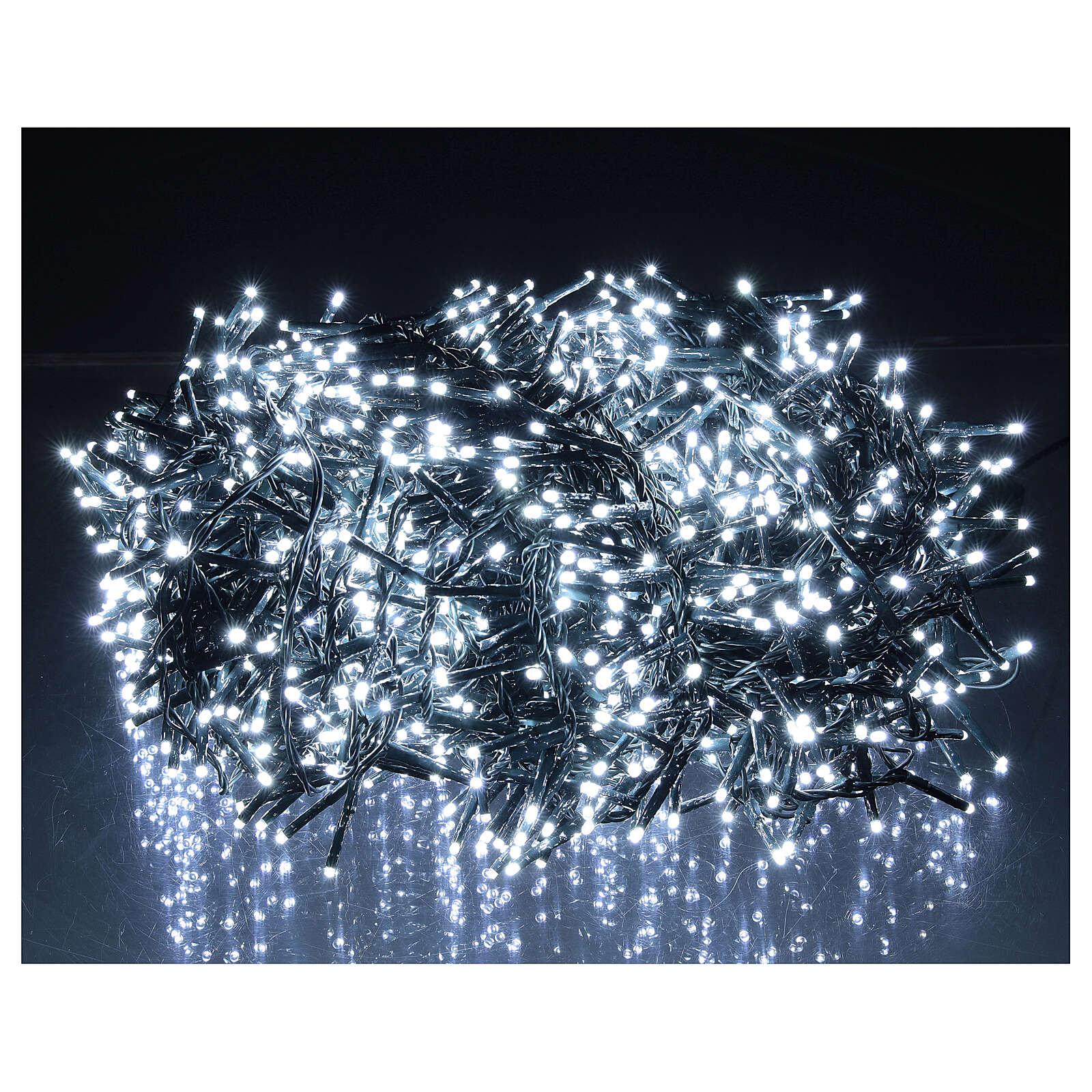 Christmas lights 1800 LEDs cold white with light shows external 220V 3