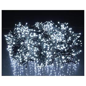 Christmas lights 1800 LEDs cold white with light shows external 220V s1