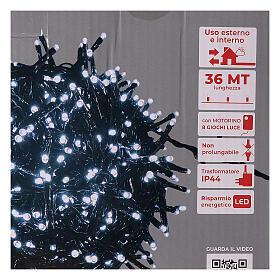 Christmas lights 1800 LEDs cold white with light shows external 220V s5