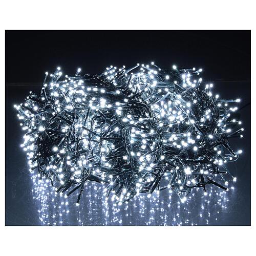 Christmas lights 1800 LEDs cold white with light shows external 220V 1
