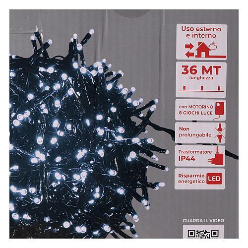 Christmas lights 1800 LEDs cold white with light shows external 220V 5