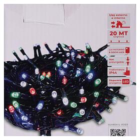 Chaîne 500 LED multicolores avec télécommande s5