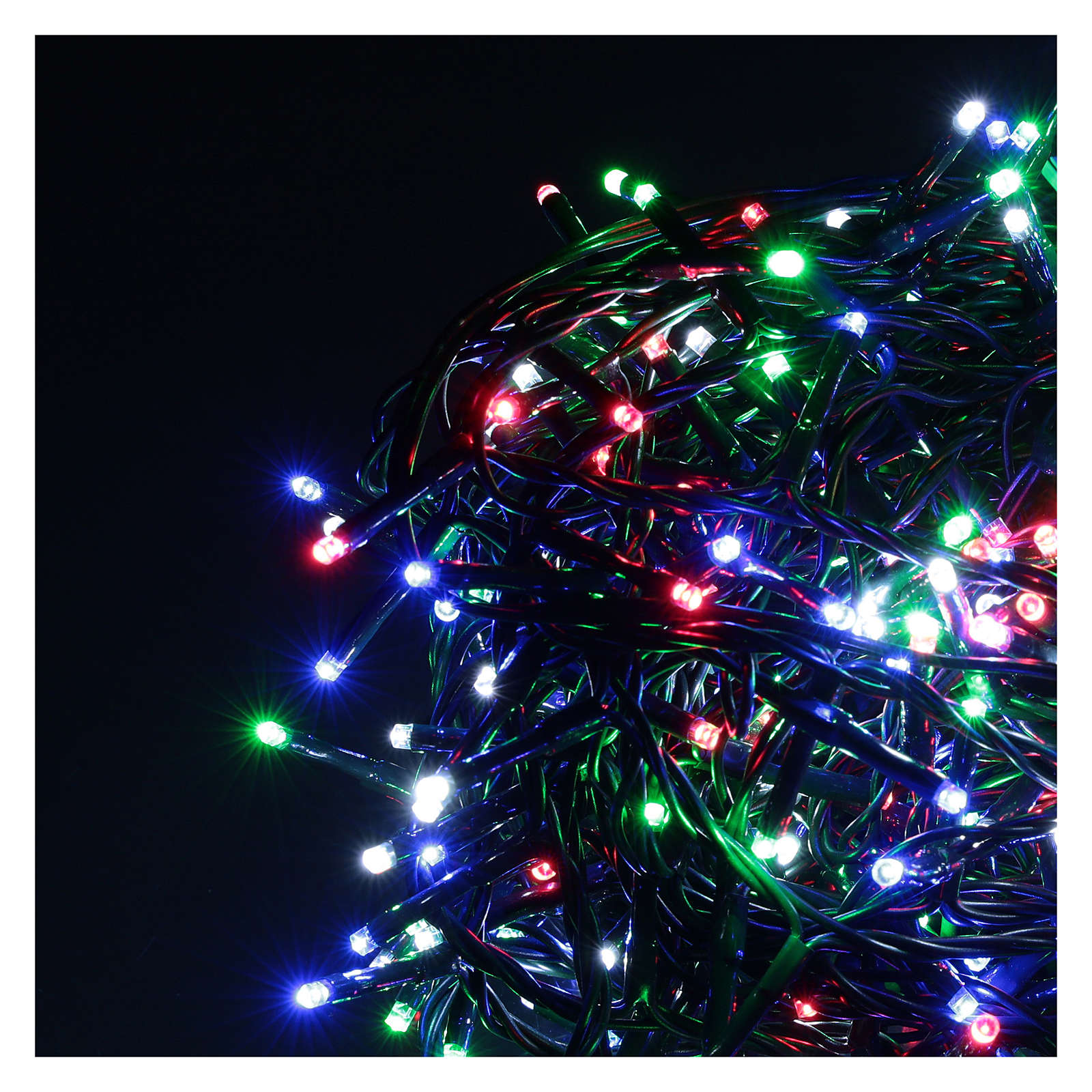 Catena luminosa 500 led multicolor con telecomando remoto esterno 220V 3