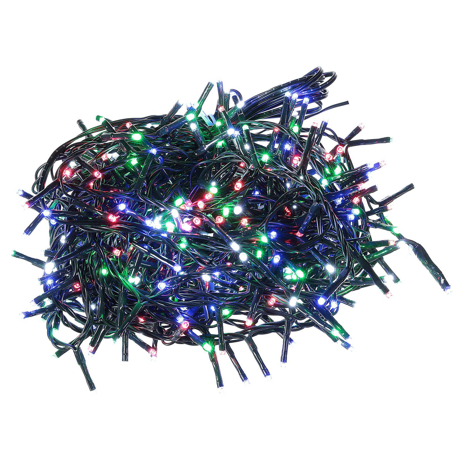 Catena luminosa 500 led multicolor con telecomando remoto esterno 220V 3