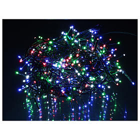 Catena luminosa 500 led multicolor con telecomando remoto esterno 220V s2