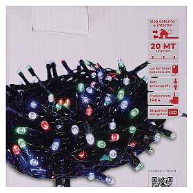 Catena luminosa 500 led multicolor con telecomando remoto esterno 220V s4