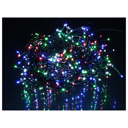 Catena luminosa 500 led multicolor con telecomando remoto esterno 220V 2