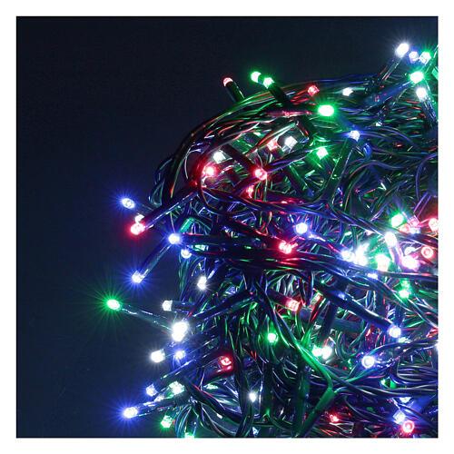 Catena luminosa 500 led multicolor con telecomando remoto esterno 220V 2