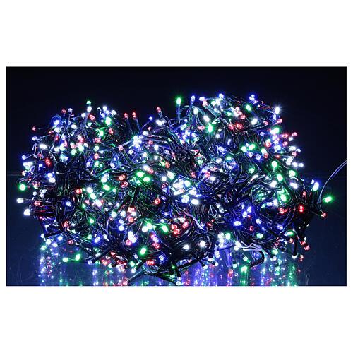 Cadena luminosa 1500 led multicolor juegos luz programable corriente 220V 1