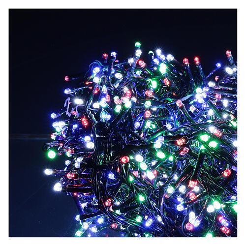 Cadena luminosa 1500 led multicolor juegos luz programable corriente 220V 2