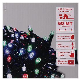 Guirlande de Noël 1500 LED multicolores jeux de lumières programmables courant 220V s5