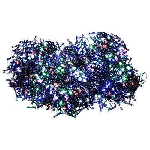 Guirlande de Noël 1500 LED multicolores jeux de lumières programmables courant 220V 1