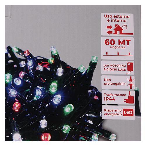 Guirlande de Noël 1500 LED multicolores jeux de lumières programmables courant 220V 5