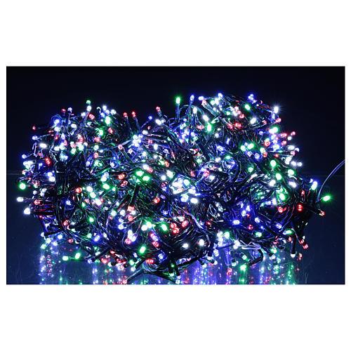 Catena luminosa 1500 led multicolor giochi luce programmabili corrente 220V 2
