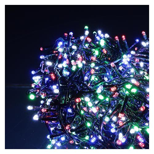 Catena luminosa 1500 led multicolor giochi luce programmabili corrente 220V 3