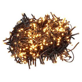 Guirlande 500 LED blanc chaud ambrée avec jeux de lumières programmables s1