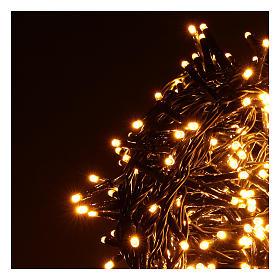 Catena luminosa 500 led bianco caldo ambrato giochi luce programmabili esterno 220V s3
