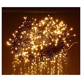 Catena luminosa 500 led bianco caldo ambrato giochi luce programmabili esterno 220V s1