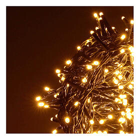 Catena luminosa 500 led bianco caldo ambrato giochi luce programmabili esterno 220V s2