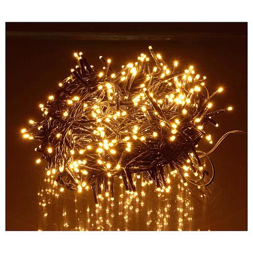 Catena luminosa 500 led bianco caldo ambrato giochi luce programmabili esterno 220V 1