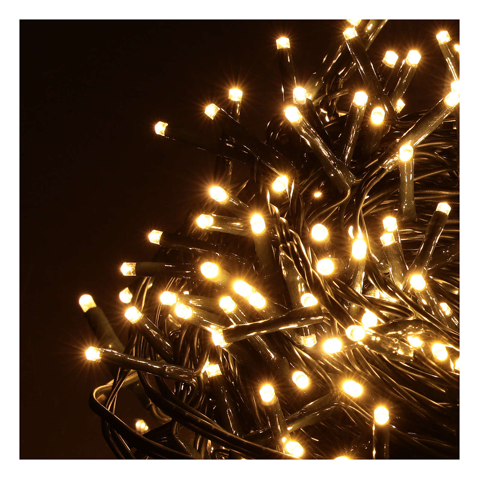 Cadena luminosa 500 blanco cálido exterior 220V 3