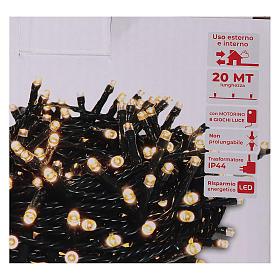 Guirlande de Noël 500 LED blanc chaud extérieur 220V s5