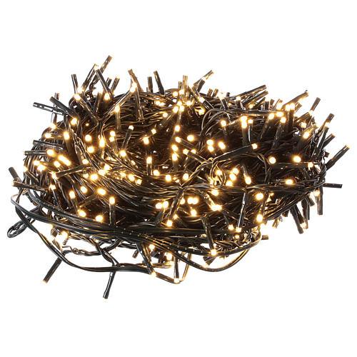 Guirlande de Noël 500 LED blanc chaud extérieur 220V 1