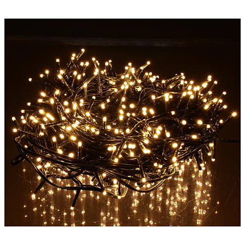 Guirlande de Noël 500 LED blanc chaud extérieur 220V 2