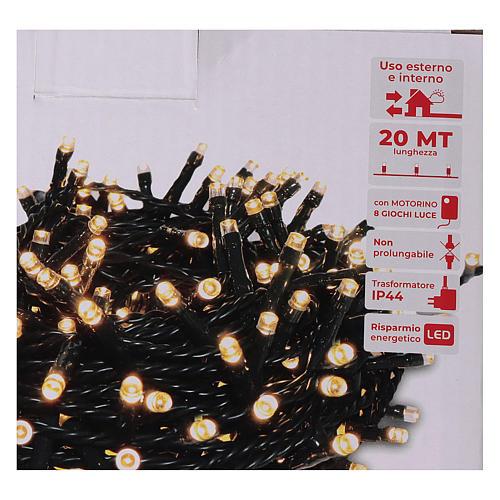 Guirlande de Noël 500 LED blanc chaud extérieur 220V 5