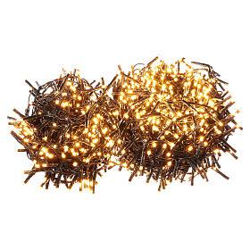 Guirlande de Noël 1200 LED blanc chaud ambré extérieur 220V s1